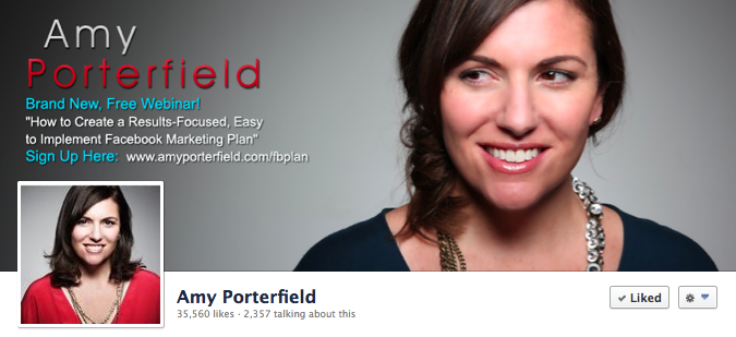 Facebook Cover Image - Amy Porterfield