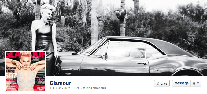Facebook Cover Image - Pink Glamour Cover Girl
