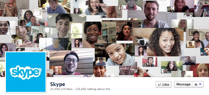 Facebook Cover Image - Skype