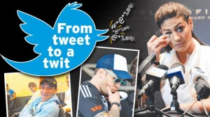 When not to tweet, Sporting identity twitter gaffes,Stephanie Rice,