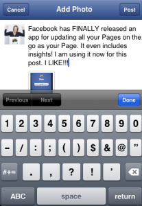 How to post updates from your Page using the Facebook Pages Manager,