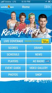 Australian Open App, iPhone App, Tennis,