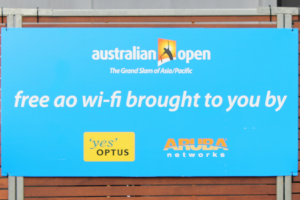 Australian Open Free Wi-Fi, how providing free wifi at events can influencing sharing,