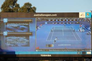 Australian Open Twitter Feed On Screen, Using Twitter in your business,
