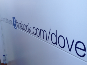 Dove Facebook - Like Us Sign, Brands and Facebook, Brands and events, Using Social Media at Events