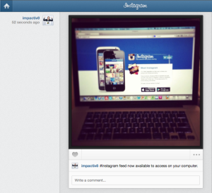 Intagram feed from computer_How to use instagram on a computer_Impactiv8_