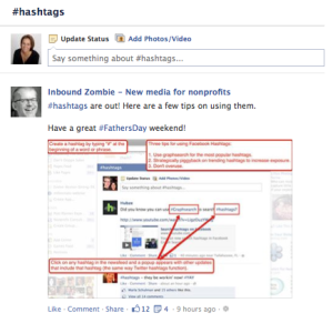 Facebook Hashtags Newsfeed_facebook business online training_ how to use facebook for business_Hashtags on Facebook_Impactiv8_Loren Bartley_