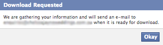 How To Request A Copy Of Your Facebook Data - Download Requested
