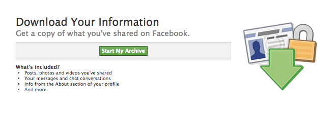 How To Request A Copy Of Your Facebook Data - Download Your Information