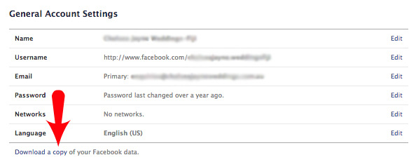 How To Request A Copy Of Your Facebook Data - General Account Settings