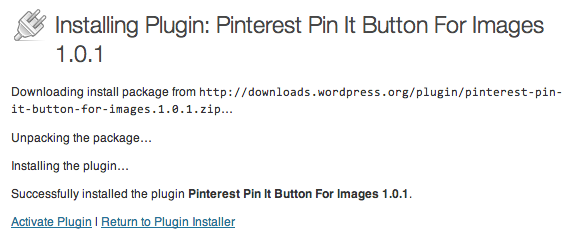 Installing Pinterest Pin It Button For Images Plugin