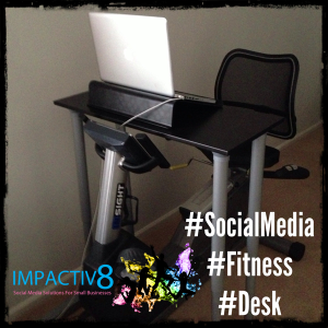 Exercise Bike Desk Workstation