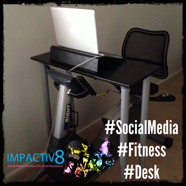 My New Social Media Fitness Desk