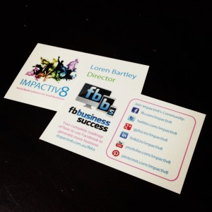 Social Media Promotion - Business Cards