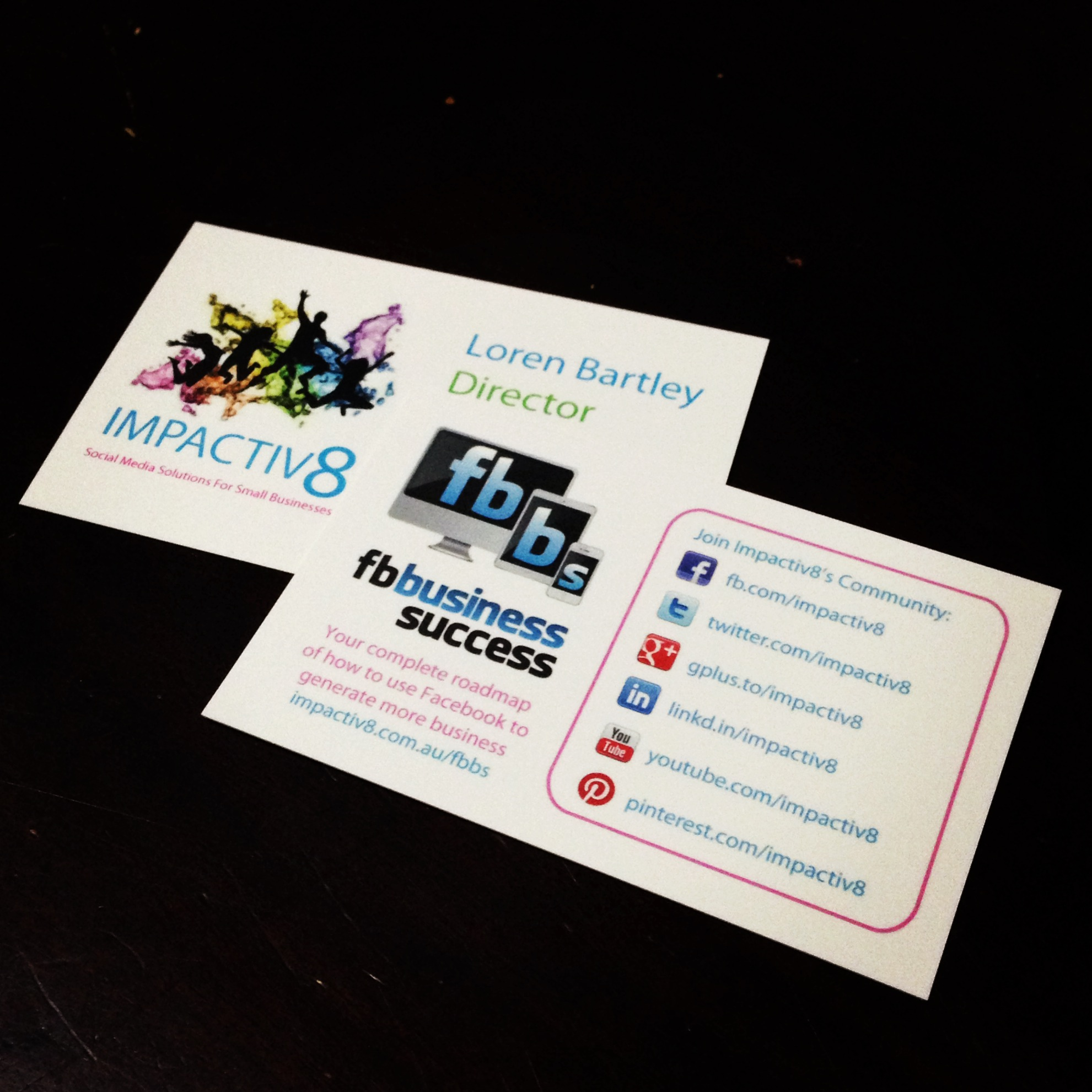 unique pictures of social media business cards business cards