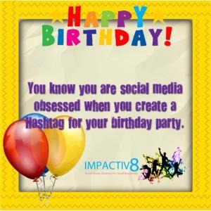 Hashtag - Birthday Party