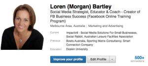 LinkedIn Profile - Loren Bartley