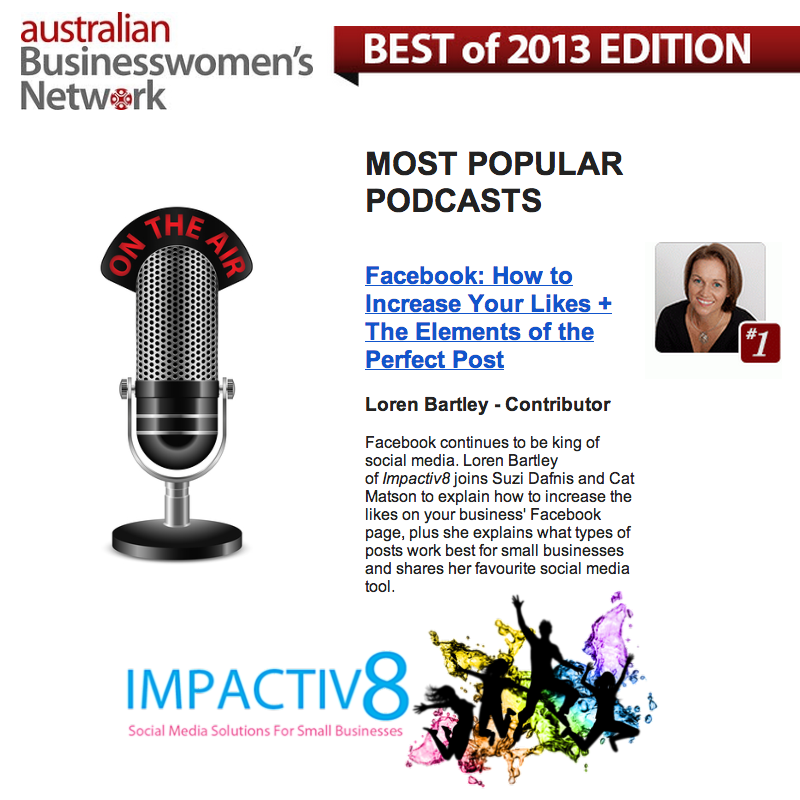 Most Popular Podcast Episode of 2013 – Australian Businesswomen's Network