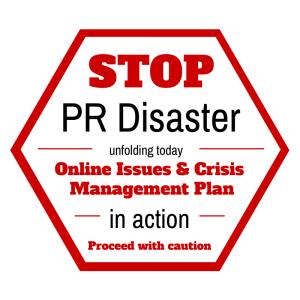 Social Media PR disaster sign