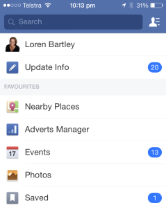 How To Access Facebook Saved Items - Mobile