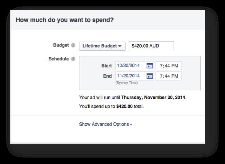 Facebook Advertising Budget
