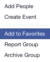 Facebook Notificaitons For Groups - Add To Favourites