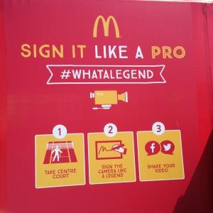 Official Australian Open Hashtag 2015 McDonalds Whatalegend