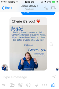 Facebook very responsive to messages icon