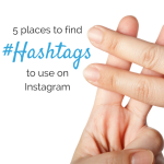 5 places to find hashtags for instagram