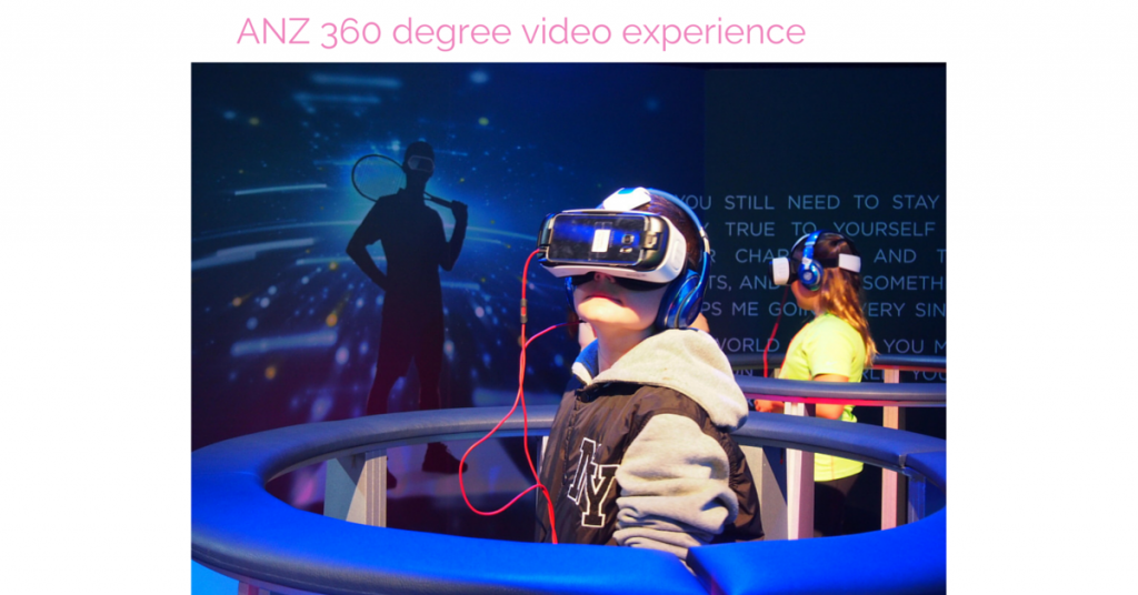 ANZ 360 degree video experience Australian Open 2016 Virtual Reality