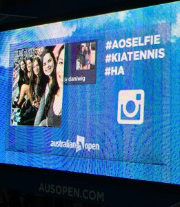 AOSelfie KiaTennis Social Media at the Australian Open 2016