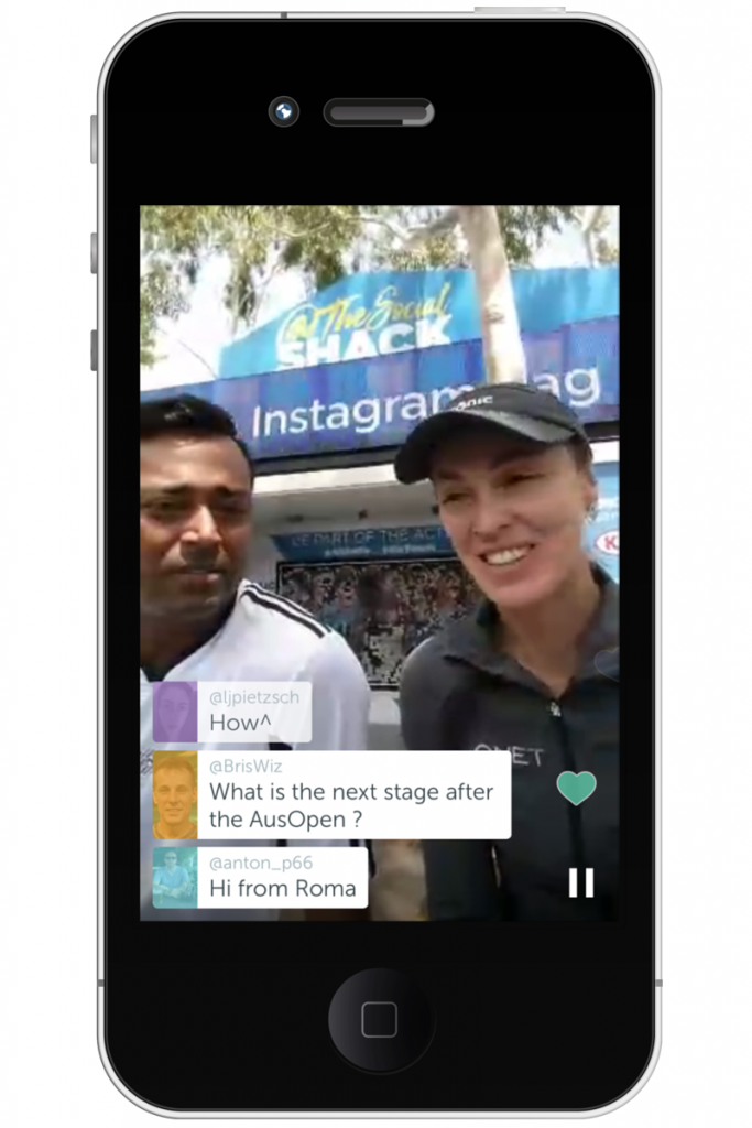 Periscope at the Australian Open 2016