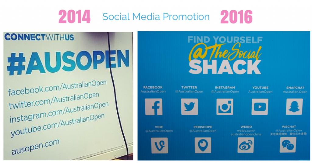 Social Media Platform Promotion Australian Open 2016