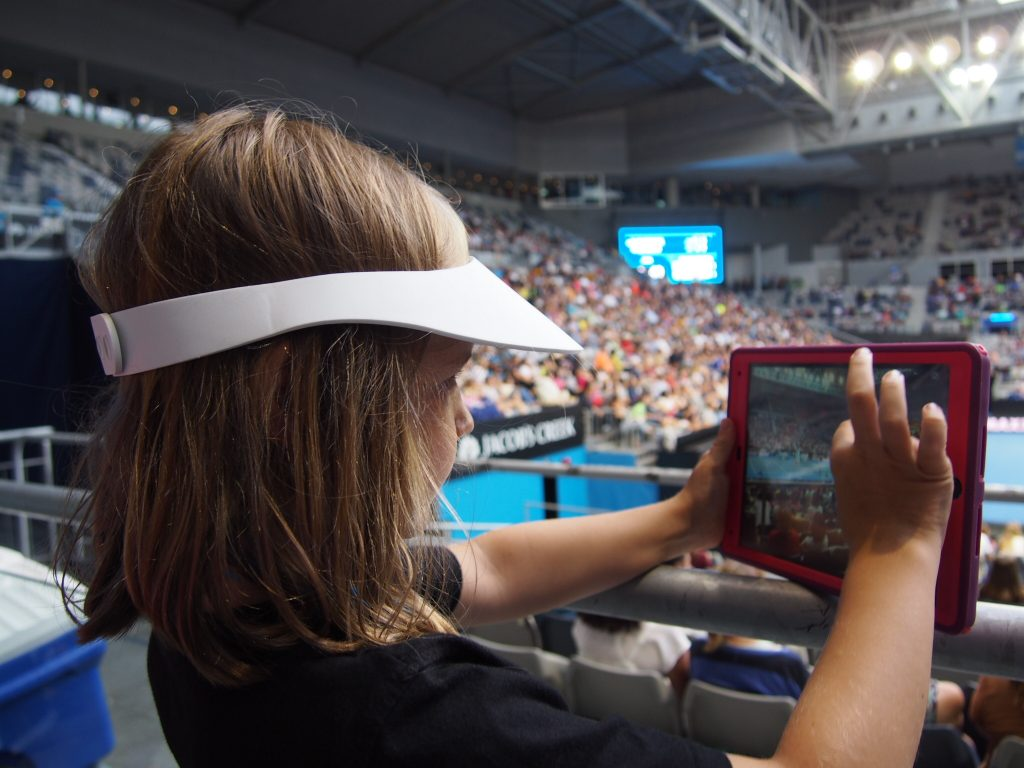 Social sharing on an iPad at the Australian Open 2016