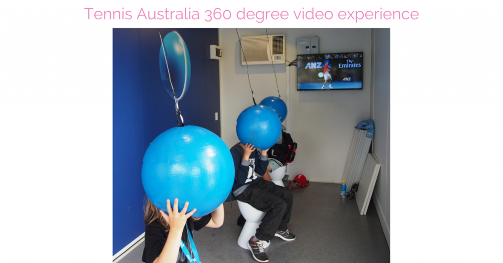 Tennis Australia 360 degree video experience Australian Open 2016 Virtual Reality
