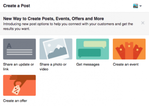 Create a post on Facebook