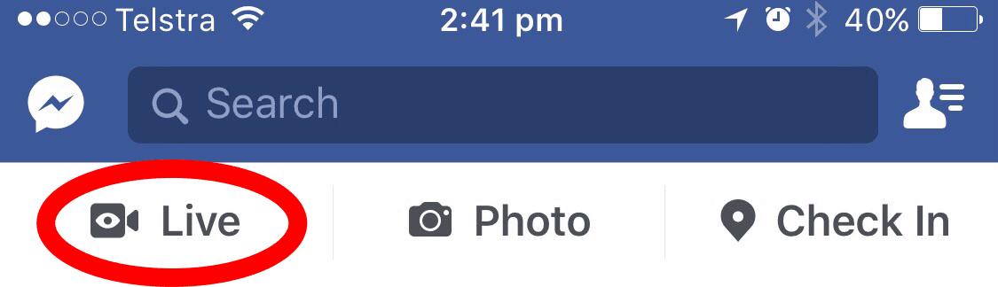 Facebook Live Broadcast Mobile