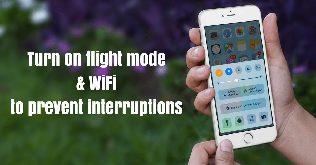 Facebook Live Broadcast Flight Mode & WiFi