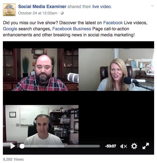 Social Media Examiner Facebook Live - Morning Social Media Marketing Talk