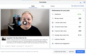 create another post with a video on facebook